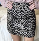 Ash Mocha Leopard Mini Skirt