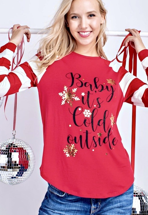 Baby It's Cold Outside Top