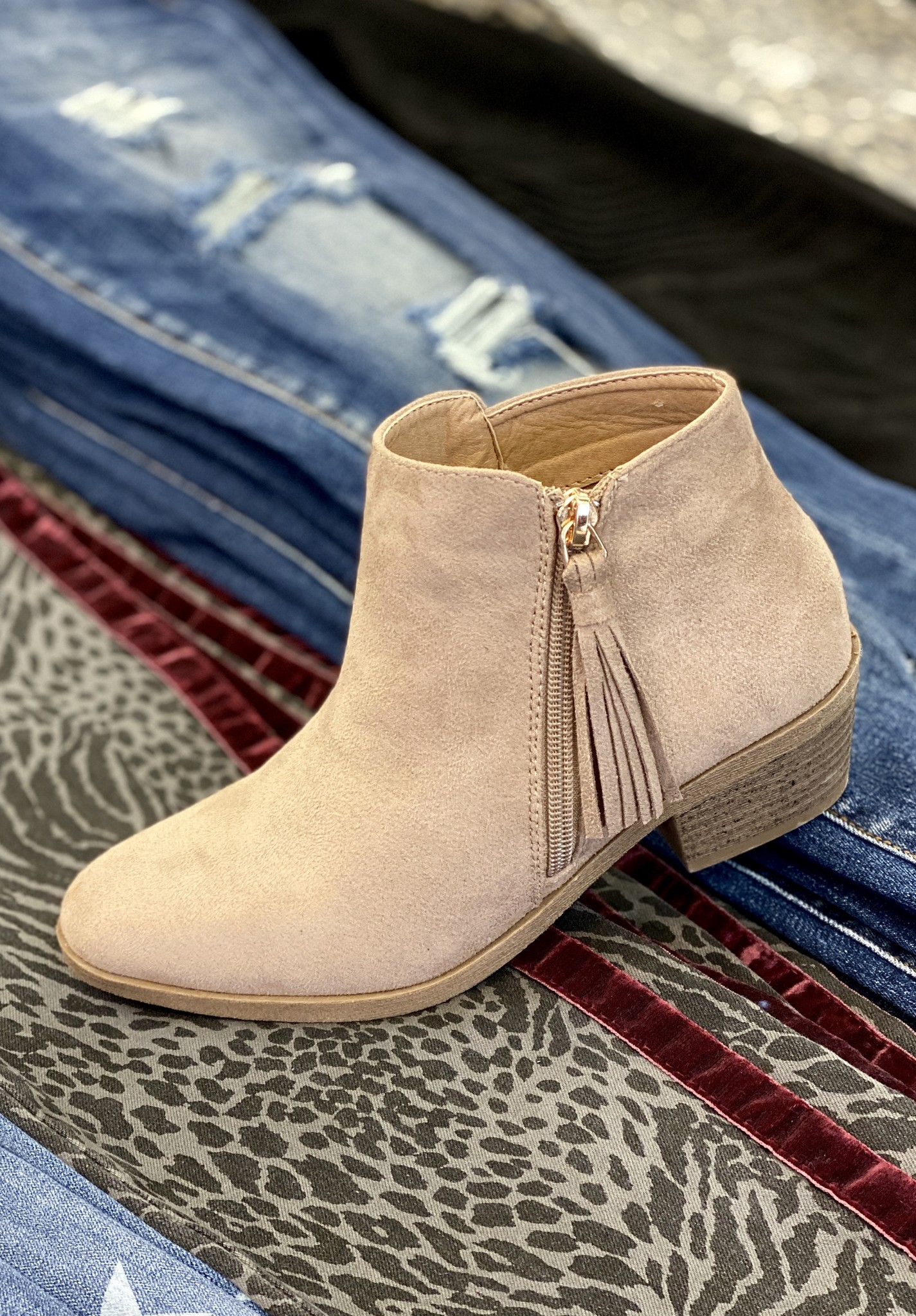 Callie Bootie Taupe