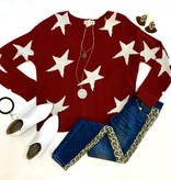 Red Star Printed Sweater