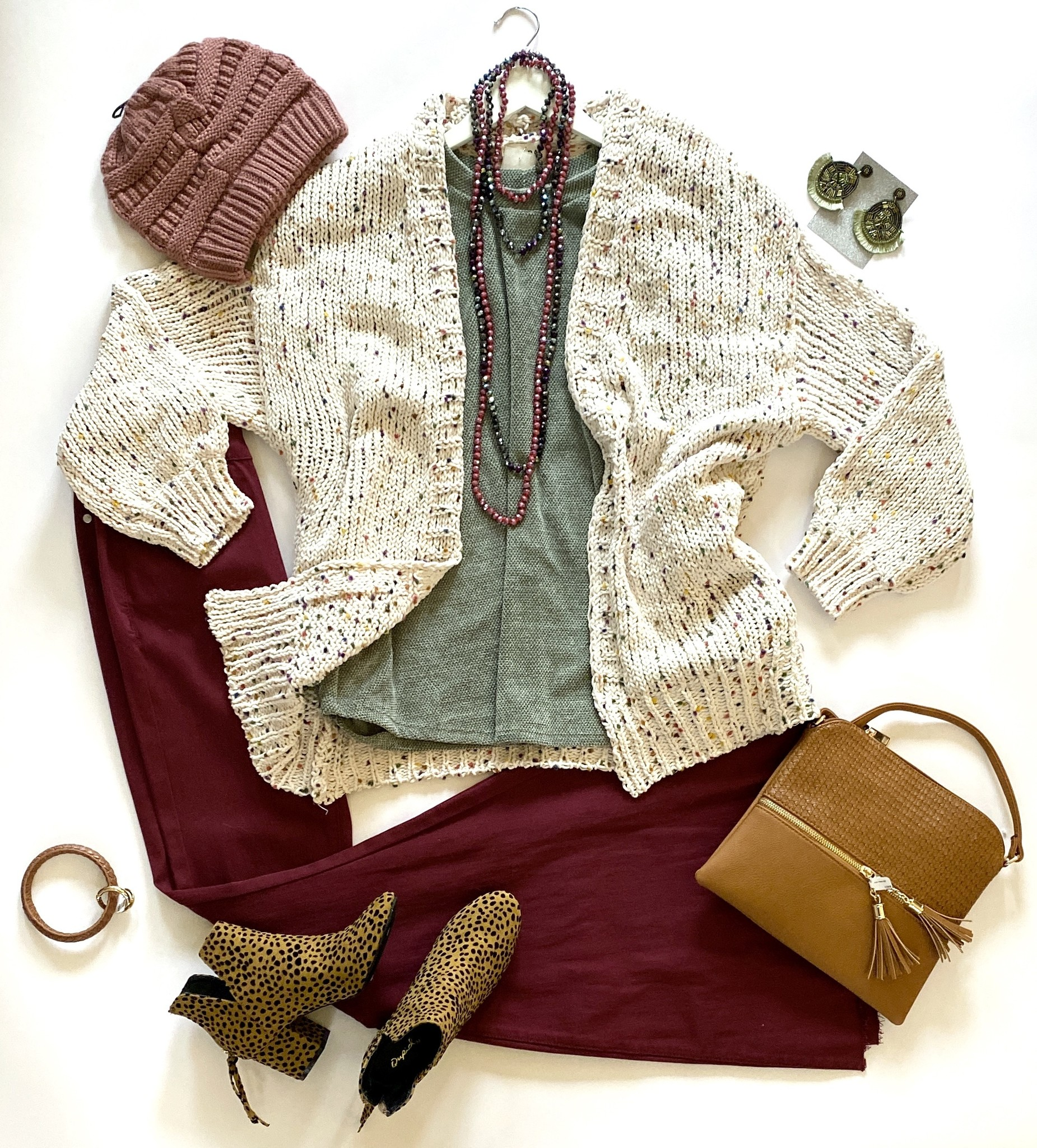 Ivory Confetti Knit Cardigan