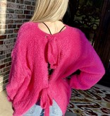 Hot Pink Bow Back Top