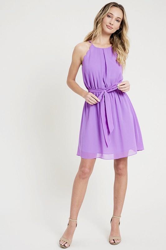 Lavender Halter Mini Dress