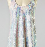 Dusty Pink Sequin Racer Back Tank