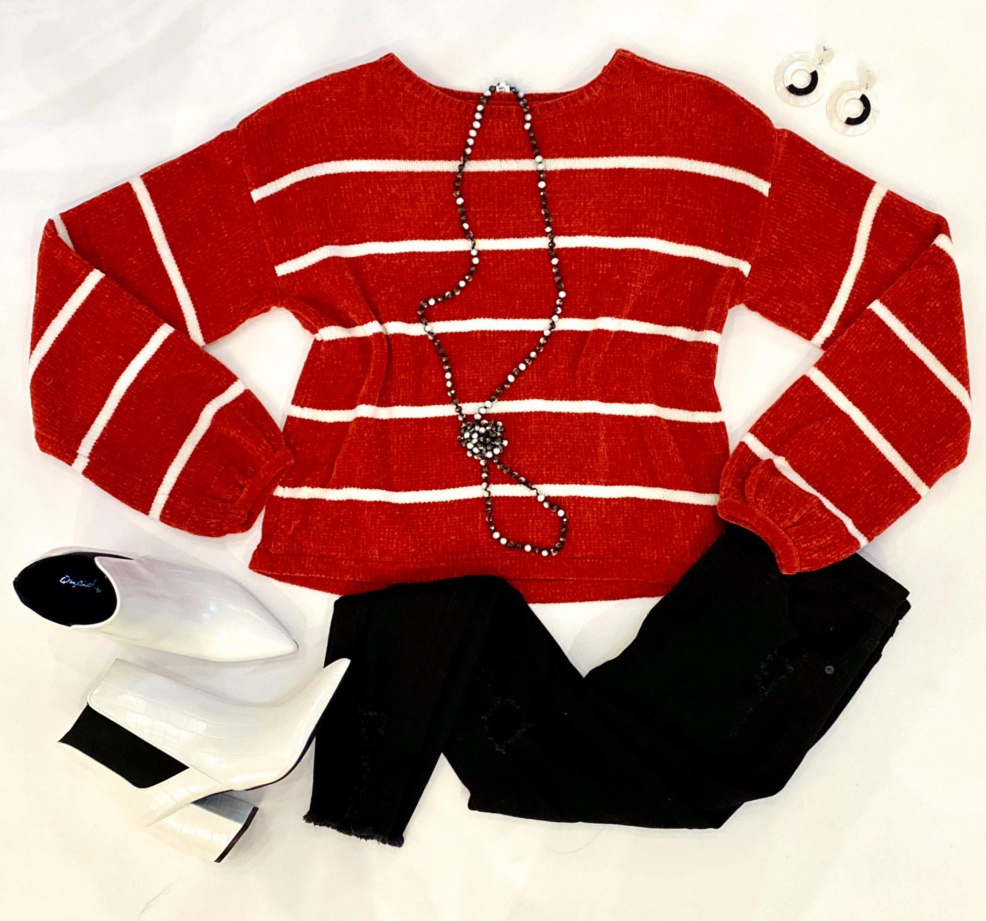 Red/White Stripe Sweater