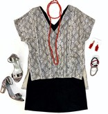Let's Party Snakeskin Top