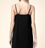 Black Scalloped Simple Dress