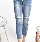 Denim Distressed Washed Pants