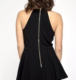Black Sleeveless Layered Shorts Romper