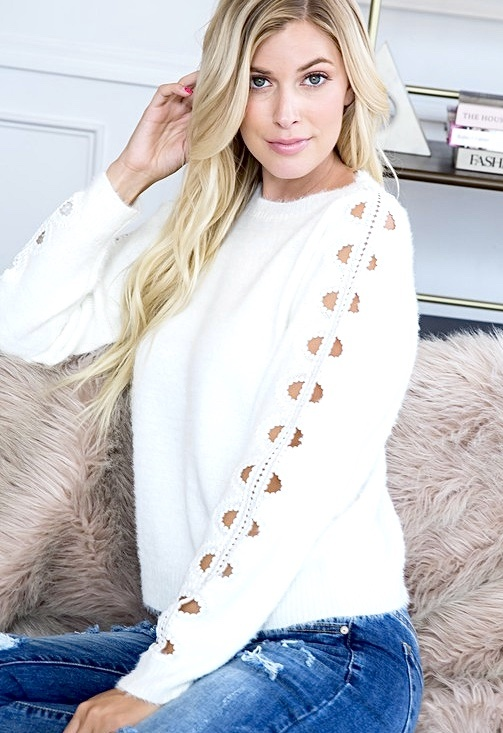 Ivory Should Detail Sweater