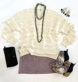 Ivory Fringe Detailed Sweater