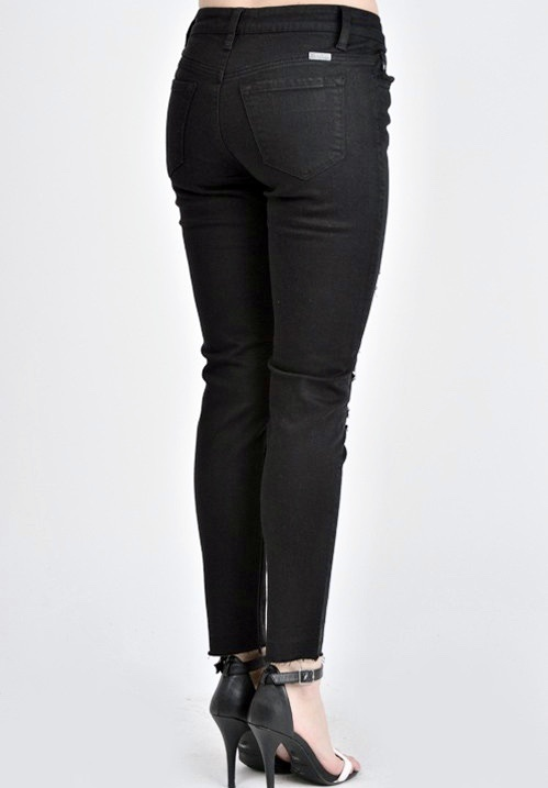 Kan Can Dark Black High Rise Skinny