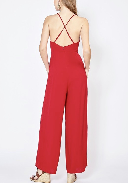 Red Date Night Jumpsuit
