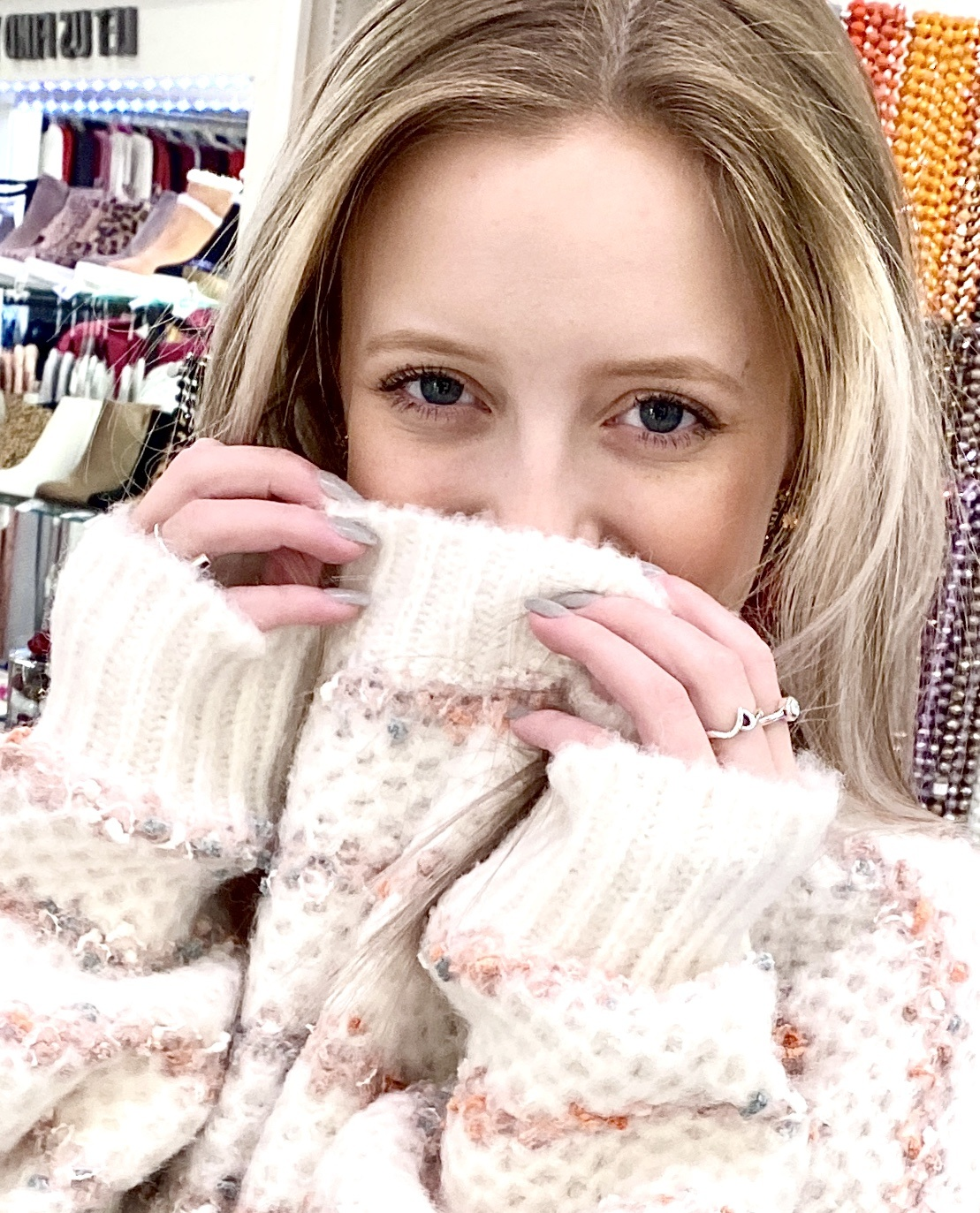Off White Multi Striped Sweater