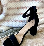 Lindsey Black Block Heel