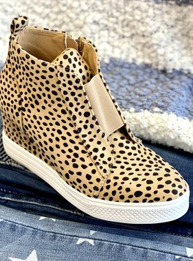 Zoey Cheetah Sneaker Wedge