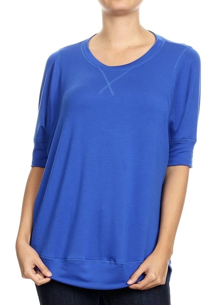 Let's Cuddle Top Royal Blue