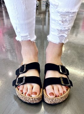 Jessy Two Strap Sandal Black