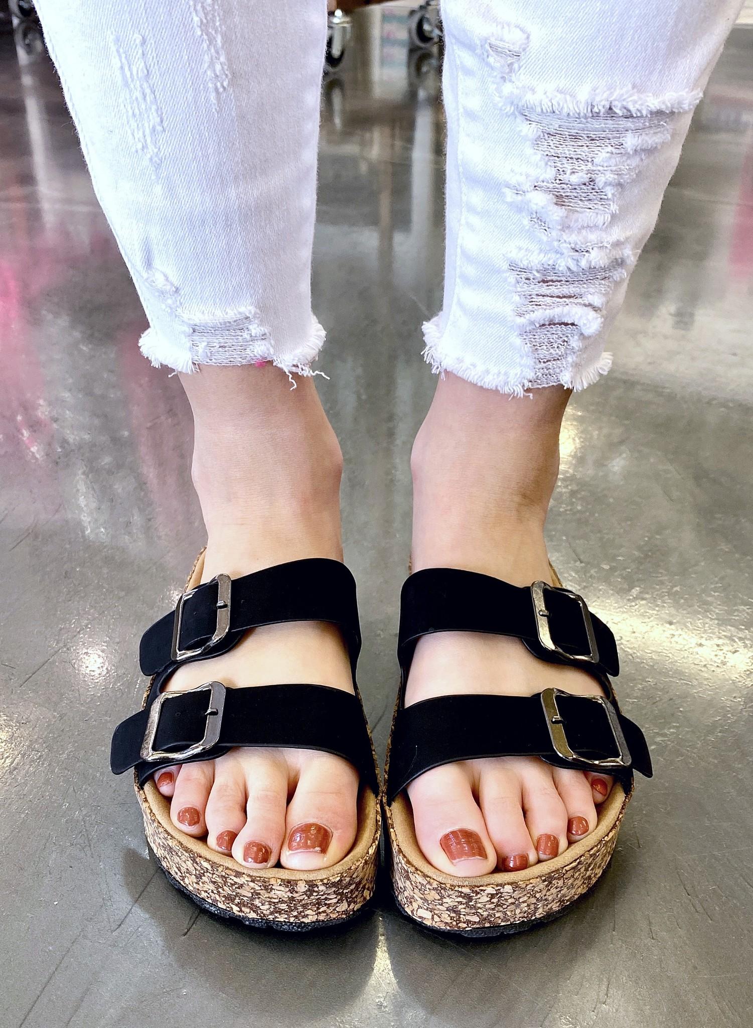 Jessy Two Strap Sandal Black