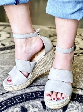 Bella Grey Wedge Sandal