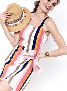 Multi Colored Striped Mini Dress
