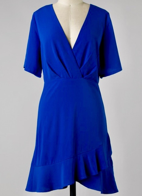 Royal Blue Flare Sleeve Dress