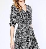 Black Cheetah Print Knit Dress