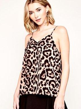 Leopard V-Cut Cami Top