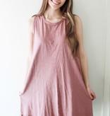 Dried Rose Sleeveless T-Shirt Dress