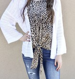 Light Taupe Leopard Print Tie Tank Top
