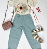 Light Sage High Waisted Vintage Jeans