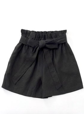Black Ribbon Paperbag Shorts