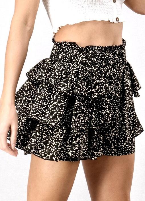 Black Woven Shorts W/ Sash