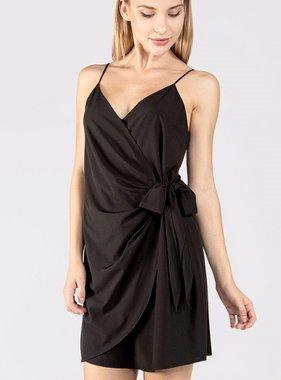 Black Wrap Tank Dress