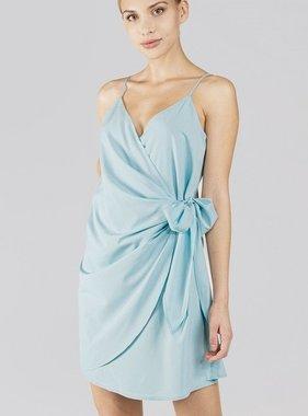 Cool Blue Wrap Dress