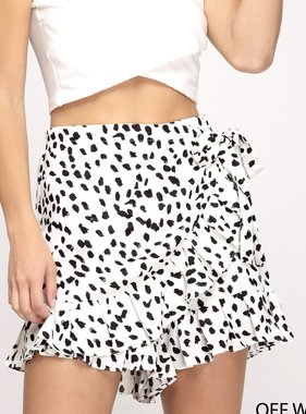 Off White Side Tie Skort