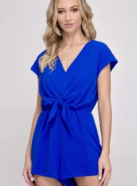 Royal Blue Drop Shoulder Romper