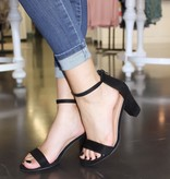 Lindsey Black Block Heel
