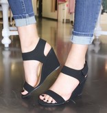 Molly Wedge Black Heel