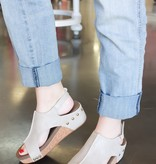 Paige Champagne Wedge