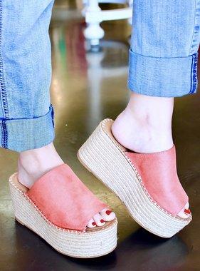 Nancy Slip-on Platform Sandal Coral