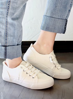 Avery White Low Top Sneaker
