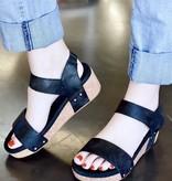 Sofia Velcro Two-Strap Wedge