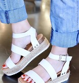 Kari Two-Strap Platform Sandal White