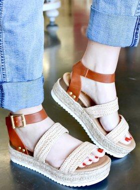 Kari Two-Strap Platform Sandal Natural