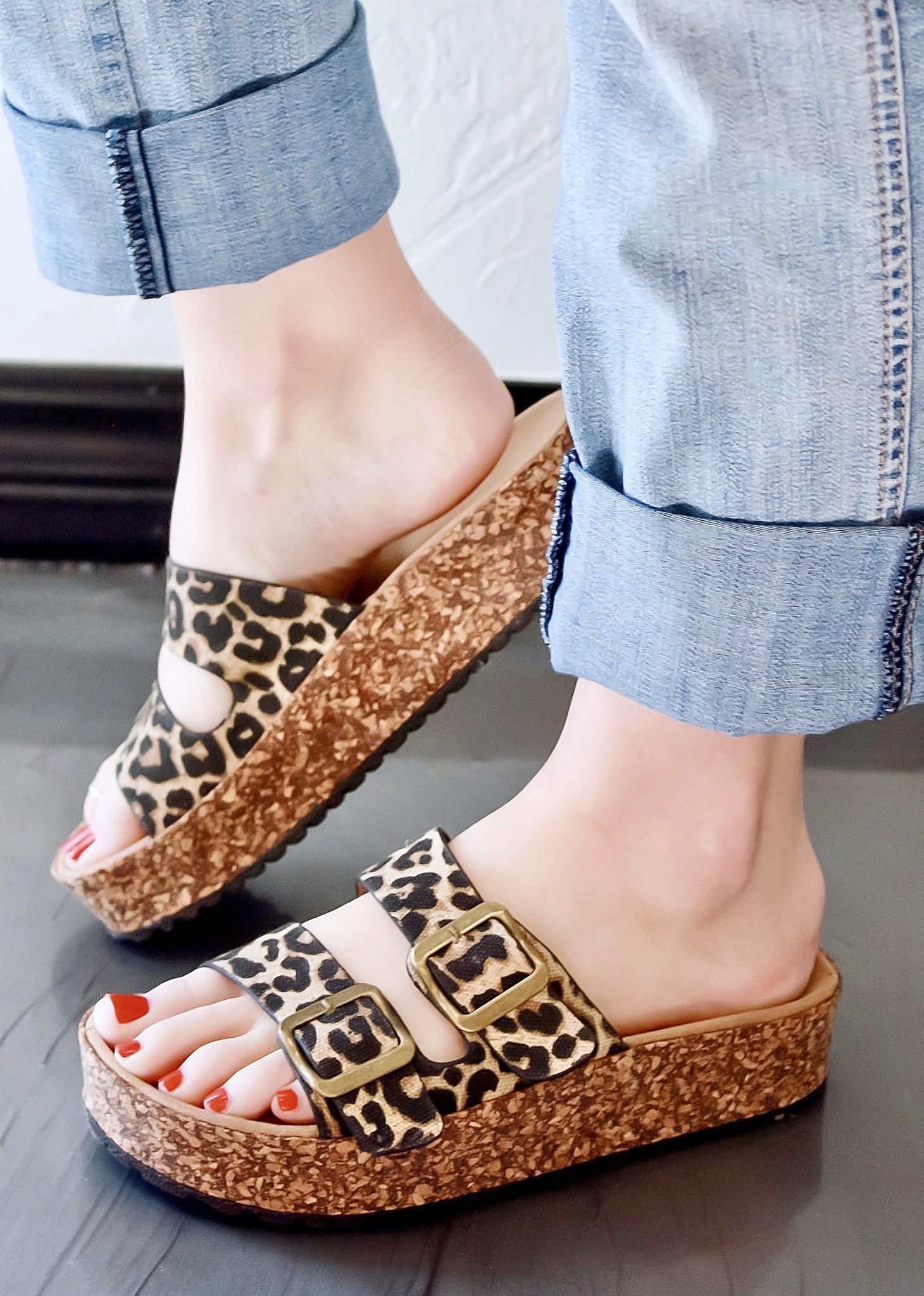 Jessy Two Strap Sandal Leopard