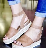 Natural Platform With Ankle Strap