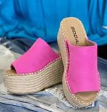 Patty Slip-on Platform Sandal Fuchsia