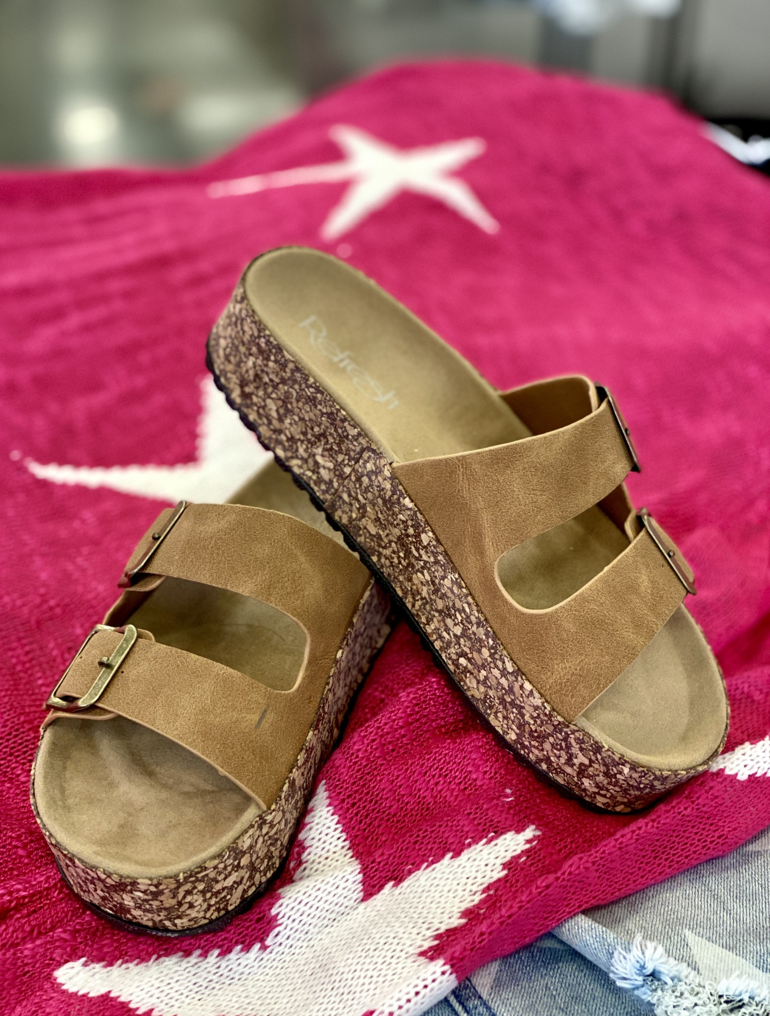 Jessy Two Strap Sandal Tan