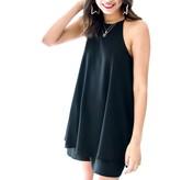 Black Woven Cami Dress